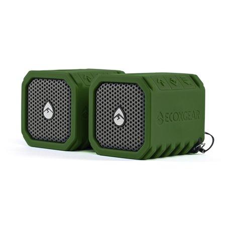 Bluetooth Speaker, Green Eco-duo Portable Audio Bluetooth Speaker Waterproof,  2pc