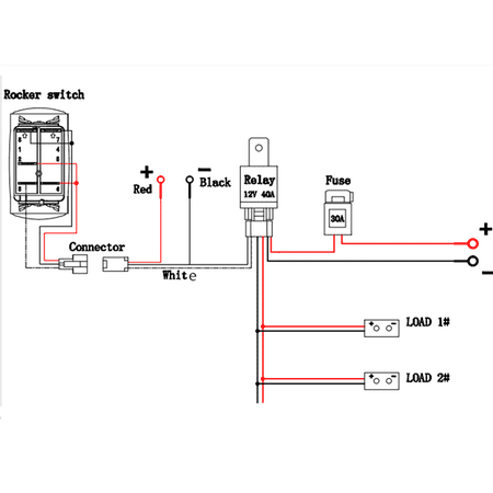 12V 6 Pin Rocker Switch Wiring Diagram from i5.walmartimages.com