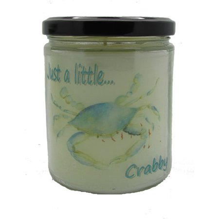 Star Hollow Candle Company Just A Little   Crabby Ocean Breeze Jar Candle