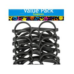 Bulk Buys PB826-15 Black Rimmed Party Favor Eyeglasses - 15 Piece