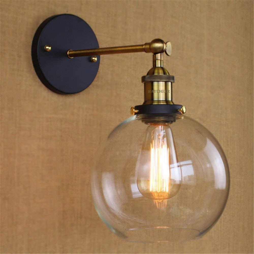 edison style lighting fixtures pendant lights baycheer hl416426 vintage industrial edison style finish round glass ball shape wall lamp lighting fixture