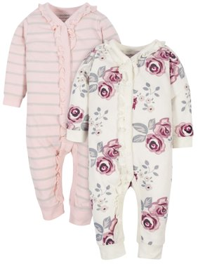 Modern Moments by Gerber Baby Girl Coveralls, 2-Pack
