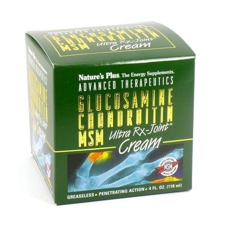 Natures Plus Glucosamine chondroïtine MSM Ultra Rx-Joint pot de crème - 4 oz