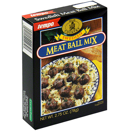 Tempo Swedish Meatball Mix, 2.75 oz (Pack of 12)
