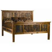 Rustic Wood Panel Bed (Twin)