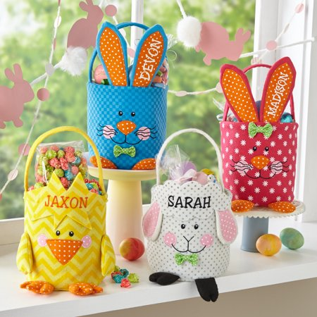 Personalized Best Buddies Felt Easter Basket - Available in 4 Designs for $<!---->