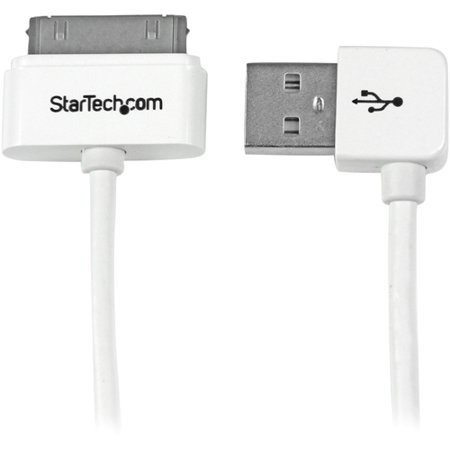 Startech USB2ADC1MUR 1m Apple 30 pin Dock Connector to Right Angle USB Cable