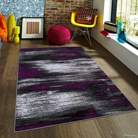 Modern Weave Rug (Purple Allstar Modern. Contemporary Woven Rug. Drop-Stitch Weave Technique. Carved Effect. Vivid Pop Colors (7' 10