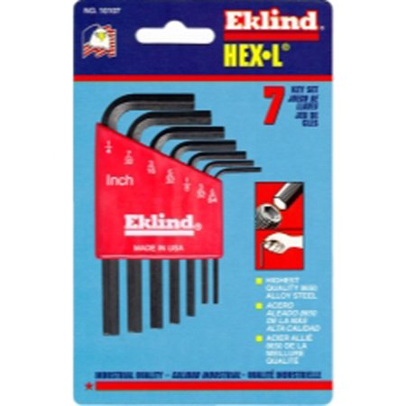 Eklind 10107 7 Piece SAE Short Hex-L Hex Key Set
