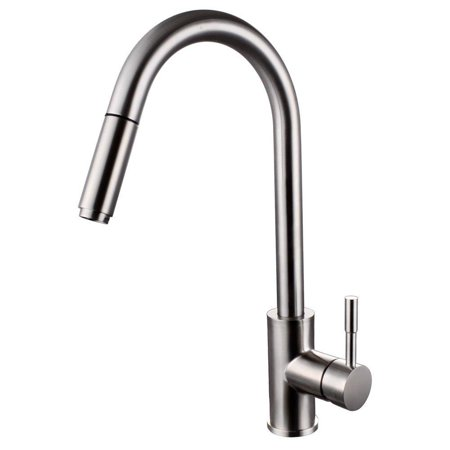 kes stainless steel pull down kitchen faucet modern single ...