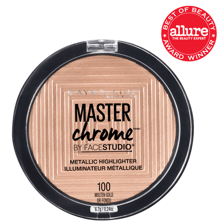 Facestudio Master Chrome Metallic Highlighter, Molten (Best Face Highlighter 2019)