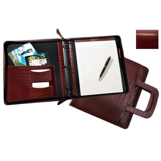 Raika RM 179 RED 3 Ring Zipper Binder and Handle - Red