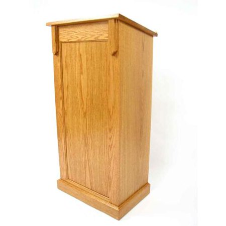 Executive Wood Pedestal Lectern Wood Podium  picture