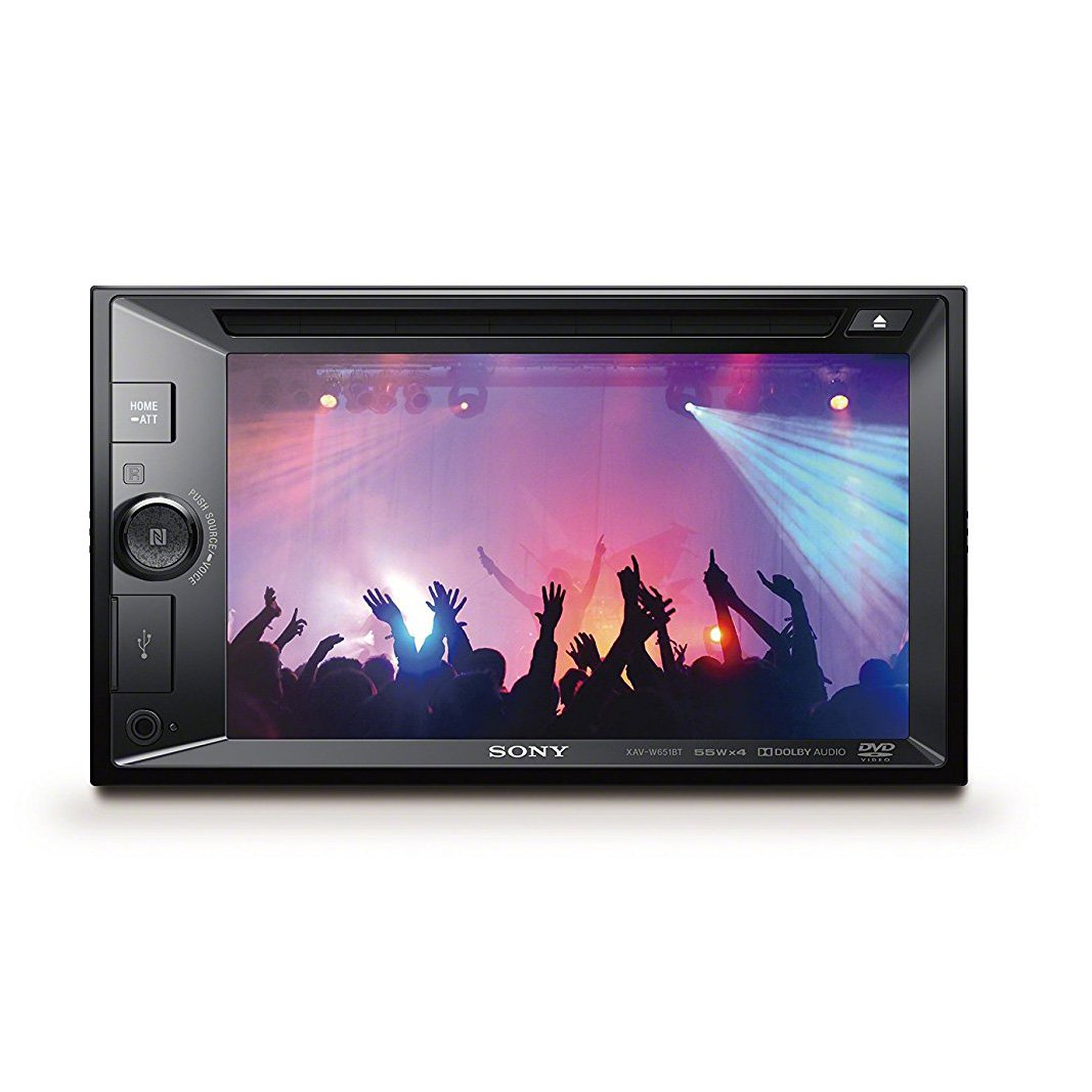 Sony 6.2 Inch Double DIN Touch Screen LCD DVD Bluetooth Stereo Radio Receiver by Sony