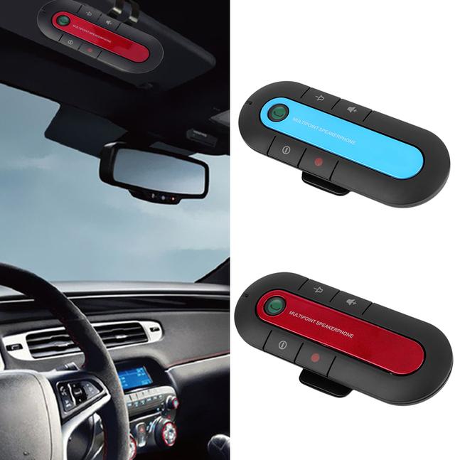 Bluetooth Hands Free Car Speaker Charger Clip Kit for Smart Phones Mobile