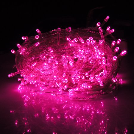 Hde Expandable 100 Led String Lights Fairy Rope Starry Dorm Room Multifunction For Indoor Outdoor Patio Home Holiday Decoration Pink