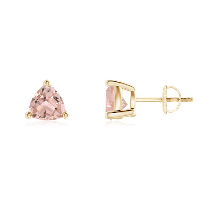 Angara Morganite Basket-Set Stud Earrings in White Gold sIYNmK