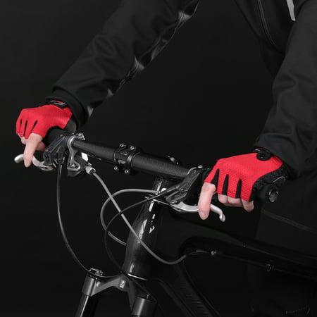 1 Pair Bike Gloves Half Finger Anti-skid Gloves Bicycle Cycling Riding Motorcycle Sports Mitt Fingerless Gloves ()