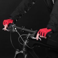 1 Pair Bike Gloves Half Finger Anti-skid Gloves Bicycle Cycling Riding Motorcycle Sports Mitt Fingerless Gloves
