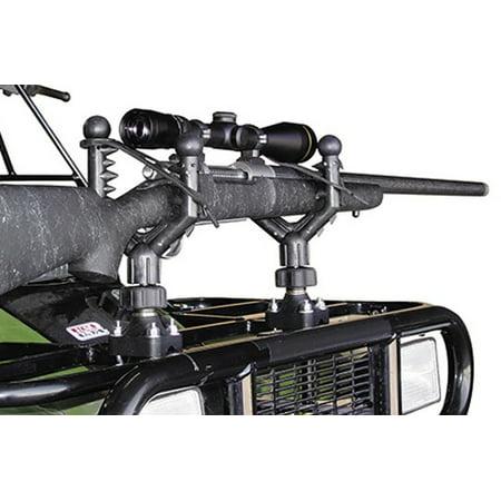 QuadBoss ATV Cushioned Gun & Bow Rack Holder (Best Gun Holder For Atv)