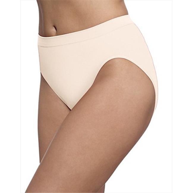 Bali 303J Microfiber Seamless Hi Cut Panty Size 8 - 9, Light Beige Skintone - image 1 de 1
