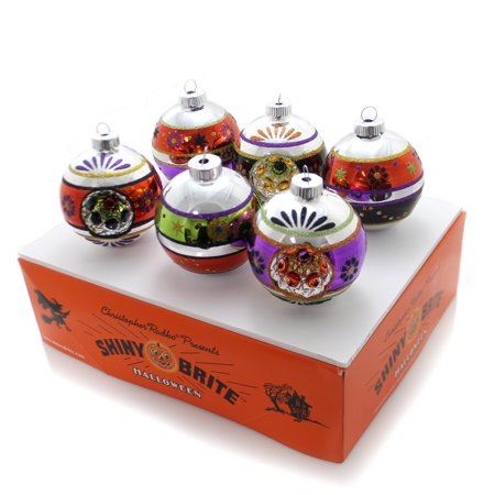 Christopher Radko DECORATED ROUNDS w/ REFLECTORS Shiny Brite Halloween 4026977