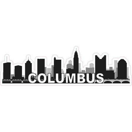 10x3 Columbus Skyline Sticker Vinyl Ohio City Car Truck Bumper Window Stickers