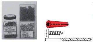 201 Pieces Metallics WAKJ14B Conical Wall Anchor Kit Plastic