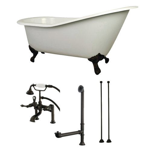 Kingston Brass 62'' x 31'' Clawfoot Soaking Bathtub