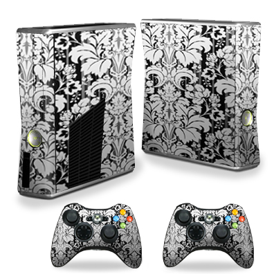 Mightyskins Protective Vinyl Skin Decal Cover for Xbox 360 S Slim + 2 controllers wrap sticker skins Floral Retro