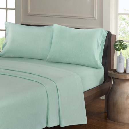 Comfort Knit Collection (Comfort Classics Heathered Cotton Jersey Knit Sheet Set )
