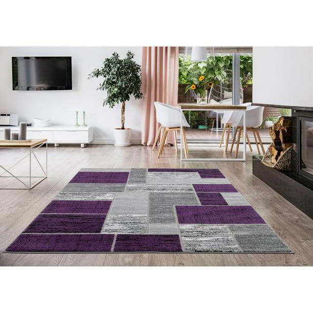 L Baiet Verena Purple Geometric 8 X 10 Rug Walmart Com Walmart Com