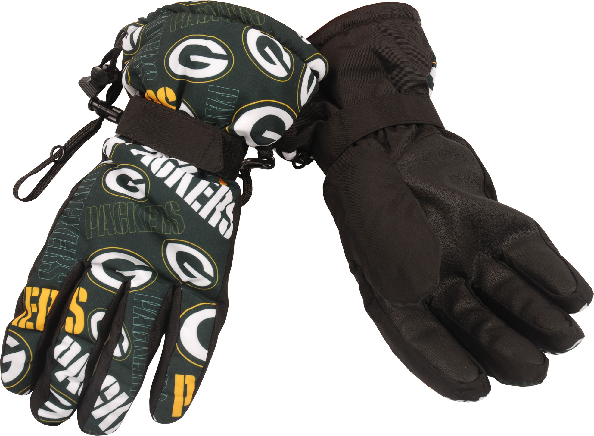 Green Bay Packers Repeat Logo Insulated Gloves by Forever Collectibles