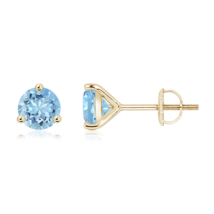 Angara Martini Setting Aquamarine Stud Earrings in Platinum q8s8mzK