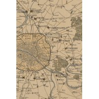 Poetose Notebooks: Boston: 1870 plan of Paris and its surroundings, showing all fortifications: A Poetose Notebook / Journal / Diary (50 pages/25 sheets) (Paperback)