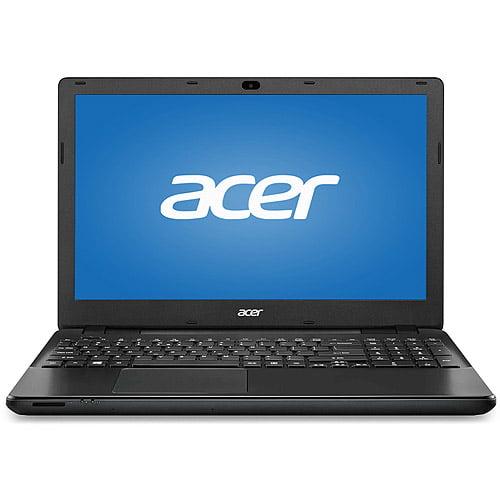 "Acer Black 15.6"" TravelMate P2 TMP256-M-P8YQ Laptop PC with Intel Pentium 3556U Dual-Core Processor, 4GB Memory, 500GB Hard Drive and Windows 7 Professional"