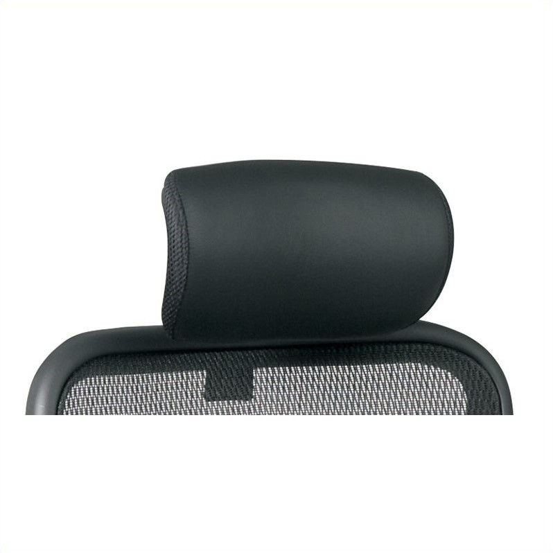 Office Star SPACE Leather Headrest in Black (Fits 818 Only)