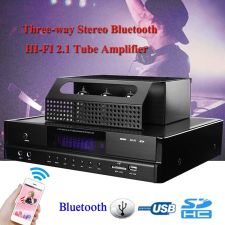 200W Powerful B luetooth HIFI 2.1 Tube Amplifier High Power Stereo Amplifier Subwoofer Connect For Android / iOS Phone CD