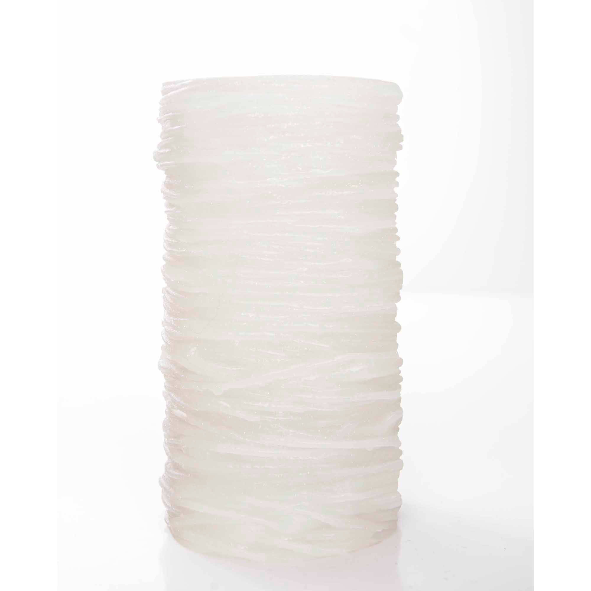 TheAmazingFlamelessCandle The Amazing Flameless Candle Wax Pillar, Layered, White, Unscented, 10mm LED, 4, 6 -  and 8 - Hour Timer and Remote Ready