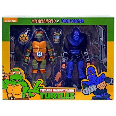Foot Soldier Figure (Teenage Mutant Ninja Turtles Michelangelo & Foot Soldier Action Figure 2-Pack )