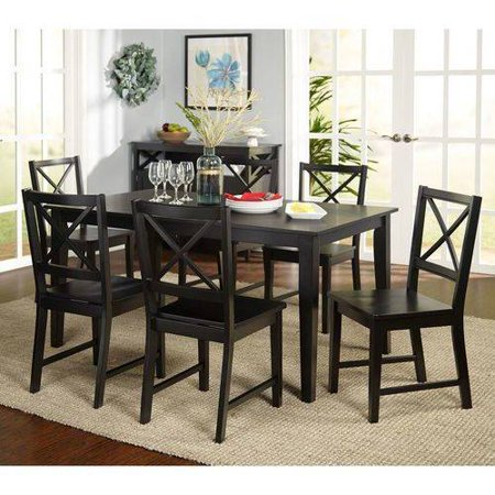 Virginia 7-Piece Dining Set, Black ()