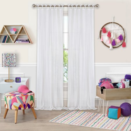 Elrene  Greta Kid's Tab Top Sheer Window Curtain Panel ()