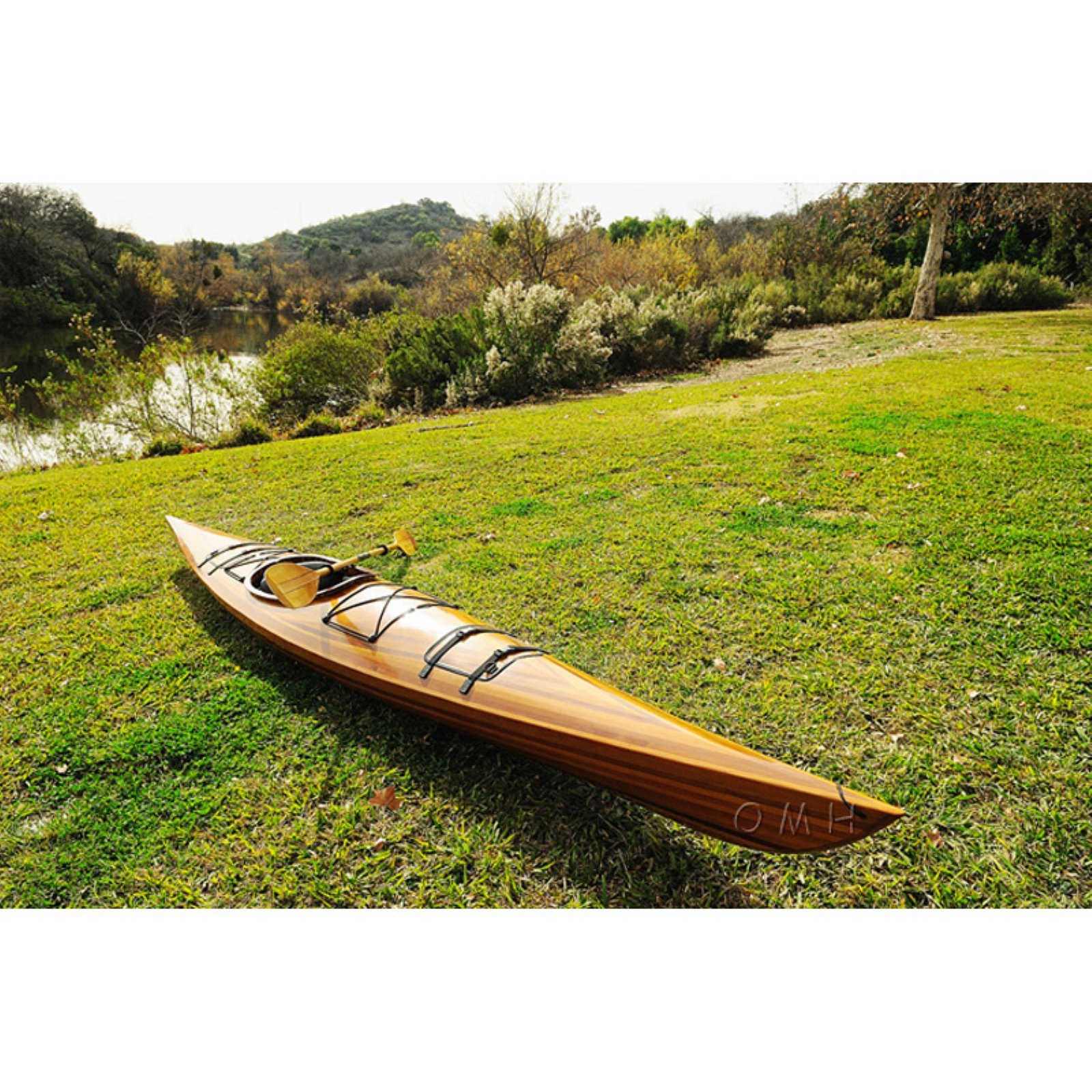 Old Modern Handicraft 1 Person 17 ft. Real Kayak by Old Modern Handicrafts
