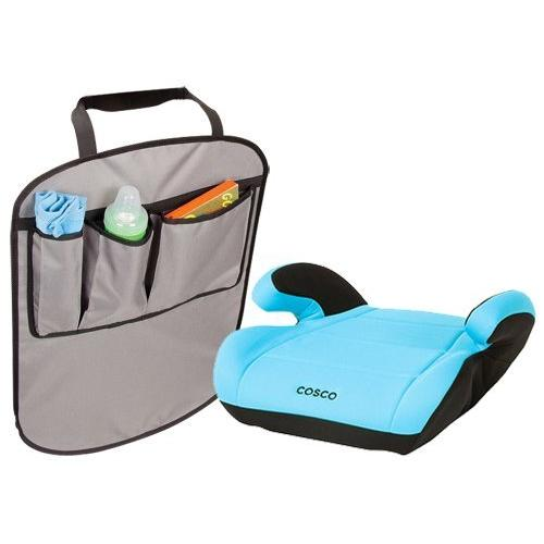 Cosco Juvenile Top Side Booster Seat with Backseat Kick Mats, Turquoise
