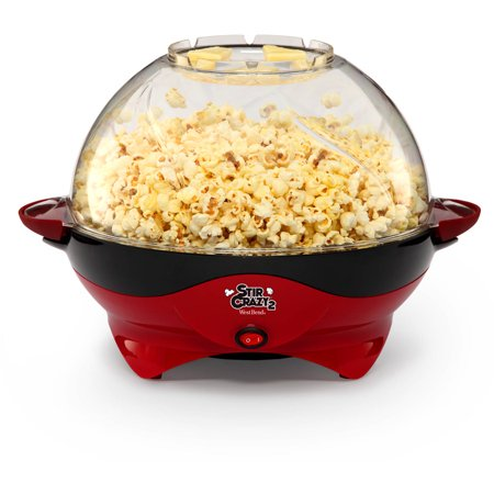 West Bend Stir Crazy Deluxe Popcorn Popper  Red