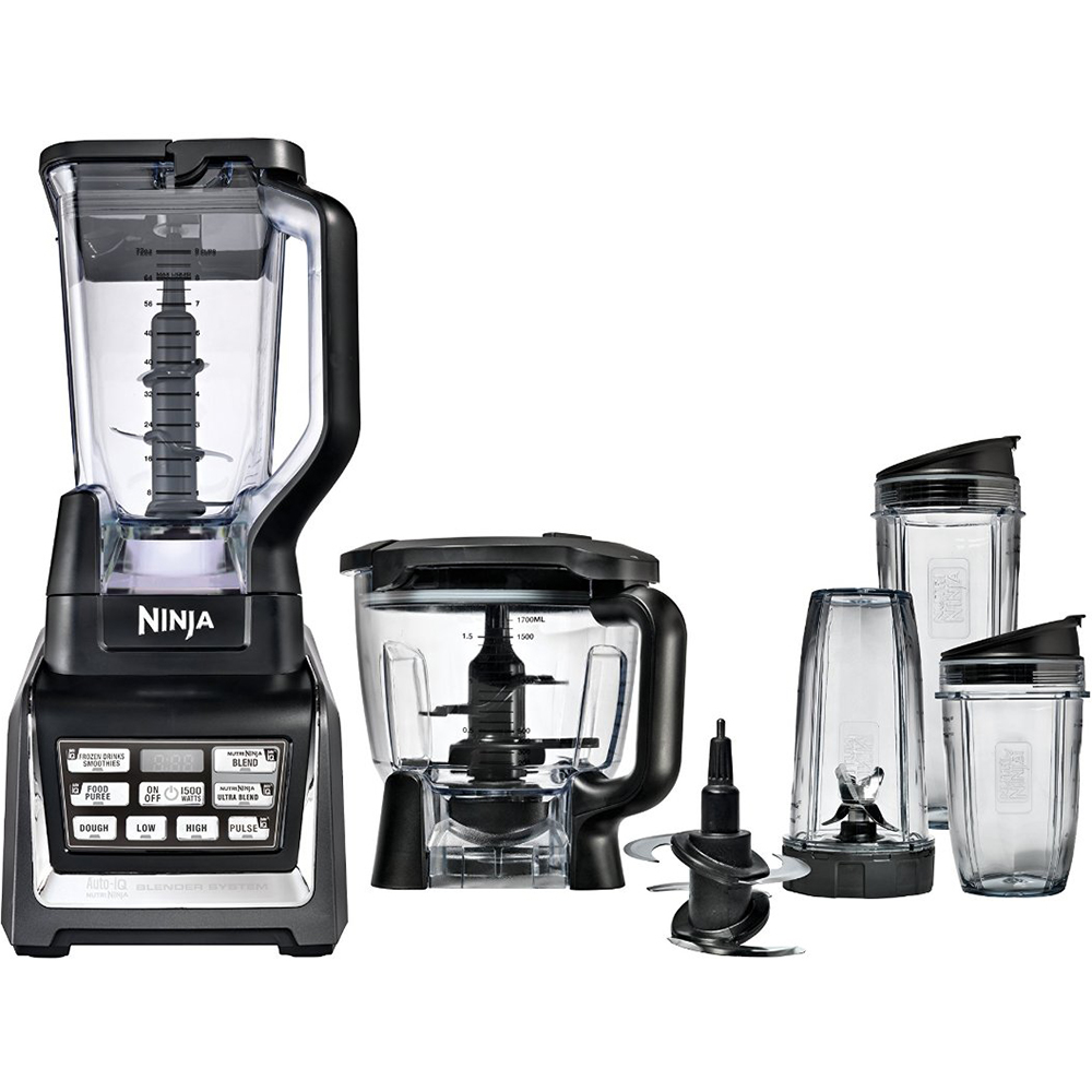 Nutri ninja blender system with auto iq technology - Ninja Bl682 1500 Watt Nutri Auto Iq Blender System With 2 X Eco First 24oz To Go Cup Bundle Walmart Com
