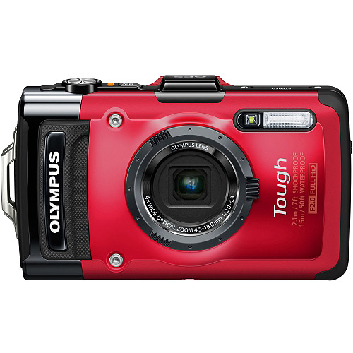 Olympus Tough TG-2 iHS 12 Megapixel Compact Camera, Red