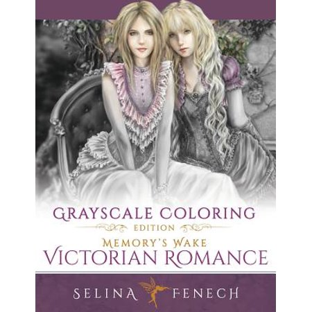 Memory's Wake Victorian Romance - Grayscale Coloring Edition