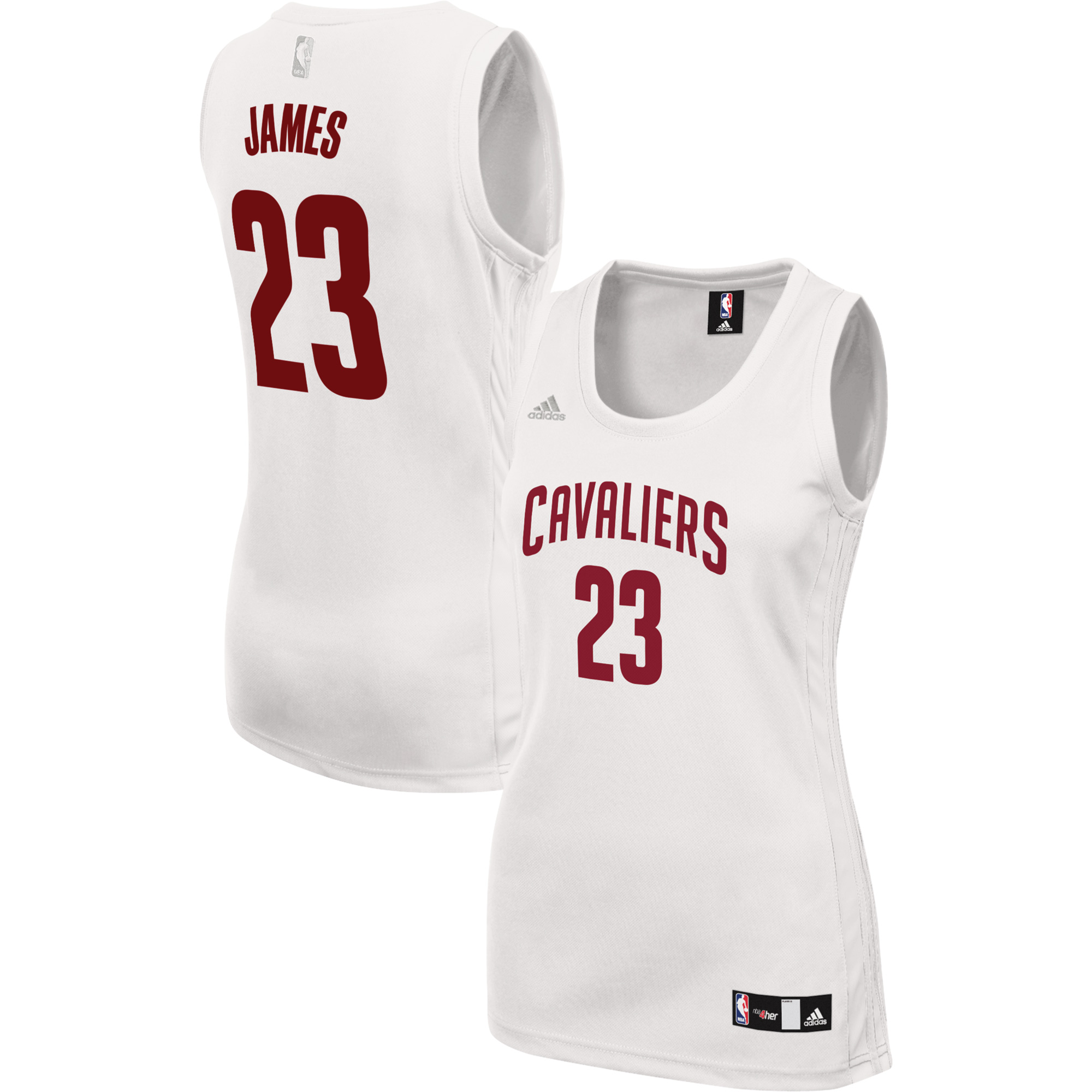 5cf90821794 ... authentic womens cleveland cavaliers lebron james adidas white fashion  replica jersey s 3d59f 88cf2