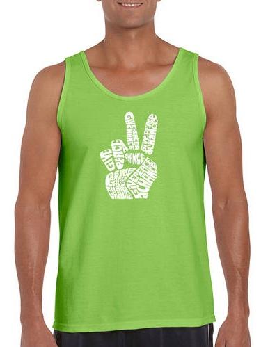 Big Men's tank top - peace fingers